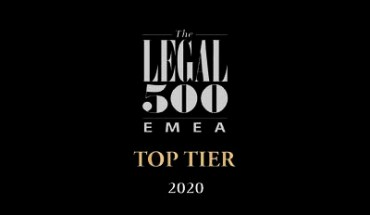 Legal 500 Top Tier 2020 Logo